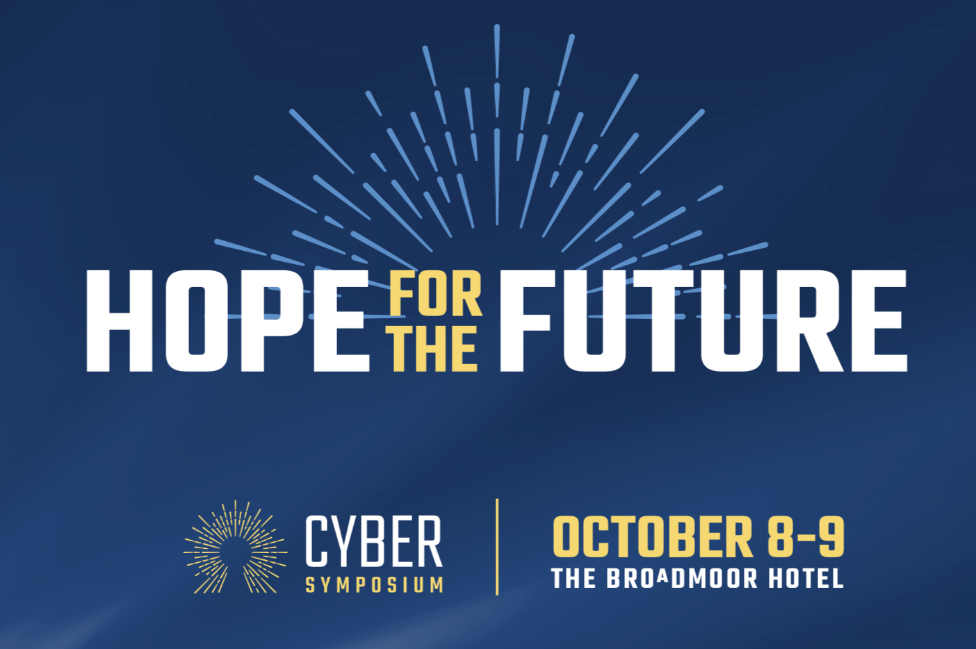 2018 Cyber Symposium logo and dates