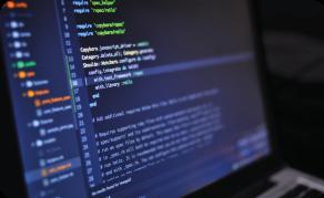 html-code-on-screen